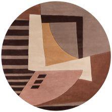 Momeni New Wave Nw-22 Light Brown 7'9″ x 7'9″ Round NEWWANW-22LBN790R