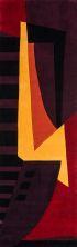 Momeni New Wave Nw-22 Plum 2'6″ x 12'0″ Runner NEWWANW-22PLM26C0