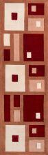 Momeni New Wave Nw-50 Red 2'6″ x 12'0″ Runner NEWWANW-50RED26C0
