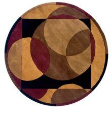 Momeni New Wave Nw-78 Brown 7'9″ x 7'9″ Round NEWWANW-78BRN790R