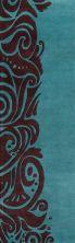 Momeni New Wave Nw-88 Turquoise 2'6″ x 12'0″ Runner NEWWANW-88TQS26C0