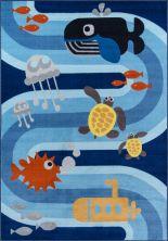 """Momeni Mini Mo Pla-6 Sea Life Blue 4'11"""" x 7'0″ PLAYTPLA-6BLU4B70"""