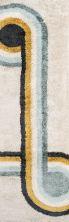 Novogratz Retro Ret-3 Modern Bullseye Blue 2'3″ x 7'6″ Runner RETRORET-3BLU2376