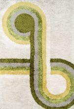 Novogratz Retro Ret-3 Modern Bullseye Green 7'6″ x 9'6″ RETRORET-3GRN7696