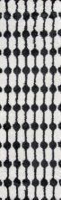 Novogratz Retro Ret-4 Modern Stockings Black 2'3″ x 7'6″ Runner RETRORET-4BLK2376