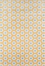 "Novogratz Terrace Trc-1 Modern Hex Tile Yellow 7'10"" x 9'10"" TERACTRC-1YEL7A9A"