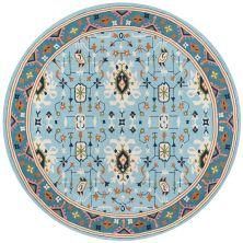 Momeni Veranda Vr-71 Blue 9'0″ x 9'0″ Round VERANVR-71BLU900R