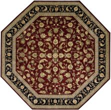 Nourison 2000 Traditional, Burgundy 10'0″ x 10'0″ Octagon 2002BRGNDY10X10
