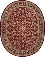 Nourison 2000 Traditional, Burgundy 7'6″ x 9'6″ Oval 2002BRGNDY6X9