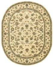 Nourison 2000 Traditional, Ivory 7'6″ x 9'6″ Oval 2023VRY6X9