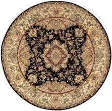 Nourison 2000 Traditional, Black 8'0″ x 8'0″ Round 2028BLCKROUND