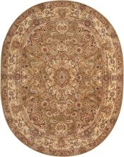 Nourison 2000 Traditional, Olive 7'6″ x 9'6″ Oval 2028LV6X9