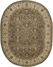 Nourison 2000 Traditional, Mushroom 7'6″ x 9'6″ Oval 2091MSHRM6X9