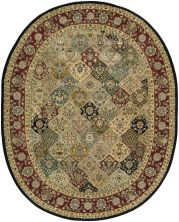 Nourison 2000 Traditional, Multicolor 7'6″ x 9'6″ Oval 2101MLTCLR6X9