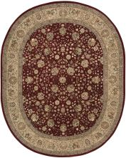 Nourison 2000 Traditional, Burgundy 7'6″ x 9'6″ Oval 2107BRGNDY6X9