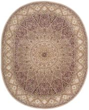 Nourison 2000 Traditional, Lavender 7'6″ x 9'6″ Oval 2117LVNDR6X9