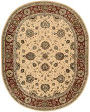 Nourison 2000 Traditional, Ivory 7'6″ x 9'6″ Oval 2204VRY6X9
