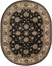 Nourison 2000 Traditional, Midnight 7'6″ x 9'6″ Oval 2204MDNGHT6X9