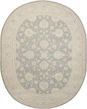 Nourison 2000 Traditional, Rustic/Vintage, Slate 7'6″ x 9'6″ Oval 2204SLT6X9