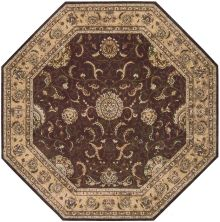 Nourison 2000 Traditional, Brown 10'0″ x 10'0″ Octagon 2206BRWN10X10