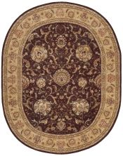 Nourison 2000 Traditional, Brown 7'6″ x 9'6″ Oval 2206BRWN6X9