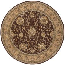 Nourison 2000 Traditional, Brown 8'0″ x 8'0″ Round 2206BRWNROUND