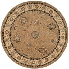 Nourison 2000 Traditional, Camel 8'0″ x 8'0″ Round 2206CMLROUND