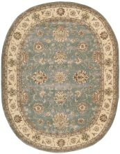 Nourison 2000 Traditional, Blue 7'6″ x 9'6″ Oval 2210BL6X9