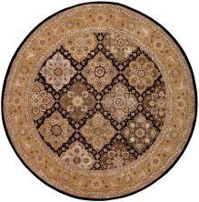 Nourison 2000 Traditional, Black 8'0″ x 8'0″ Round 2211BLCKROUND