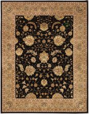 Nourison 2000 Traditional, Black 2'6″ x 4'3″ 2214BLCK3X5