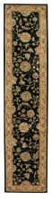 Nourison 2000 Traditional, Black 2'6″ x 12'0″ Runner 2214BLCKRUNNER
