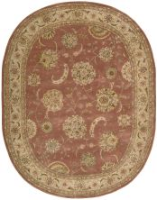 Nourison 2000 Traditional, Rose 7'6″ x 9'6″ Oval 2215RS6X9