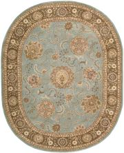 Nourison 2000 Traditional, Blue 7'6″ x 9'6″ Oval 2234BL6X9