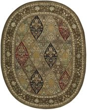 Nourison 2000 Traditional, Multicolor 7'6″ x 9'6″ Oval 2292MLTCLR6X9