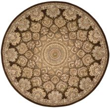 Nourison 2000 Traditional, Brown 8'0″ x 8'0″ Round 2318BRWNROUND