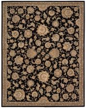 Nourison 2000 Traditional, Black 3'9″ x 5'9″ 2360BLCK4X6