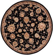 Nourison 2000 Traditional, Black 6'0″ x 6'0″ Round 2360BLCKROUND