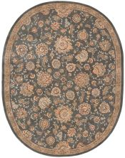Nourison 2000 Traditional, Slate 7'6″ x 9'6″ Oval 2360SLT6X9