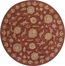 Nourison 2000 Traditional, Rust 8'0″ x 8'0″ Round 2421RSTROUND