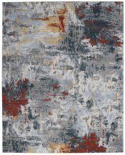 Nourison Artworks Slate/Brick 8'6″ x 11'6″ ATW03SLTBRCK9X12