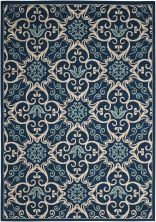 Nourison Caribbean Navy 5'3″ x 7'5″ CRB02NVY5X8