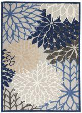 Nourison Aloha Blue/Multicolor 5'3″ x 7'5″ ALH05BLMLTCLR5X8