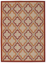 "Nourison Aloha Transitional Red 7'10"" x 10'6″ ALH06RD8X10"