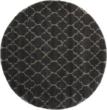 """Nourison Amore Charcoal 7'10"""" x 7'10"""" Round AMOR2CHRCLROUND"""