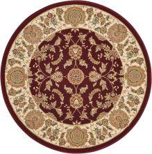Kathy Ireland Ki11 Antiquities Garnet 3'9″ x 3'9″ Round ANT01GRNTROUND