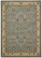 "Kathy Ireland Ki11 Antiquities Traditional, Rustic/Vintage, Slate Blue 9'10"" x 13'2″ ANT04SLTBL10X14"