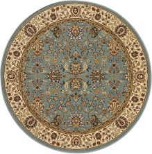 Kathy Ireland Ki11 Antiquities Traditional, Rustic/Vintage, Slate Blue 3'9″ x 3'9″ Round ANT04SLTBLROUND