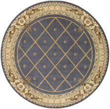 Nourison Ashton House Traditional, Trellis Blue 7'5″ x 7'5″ Round AS03BLROUND