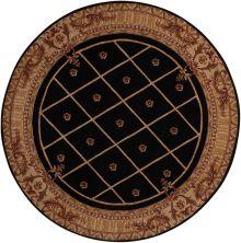 Nourison Ashton House Traditional, Trellis Black 7'5″ x 7'5″ Round AS03BLCKROUND