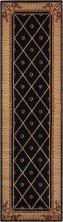 Nourison Ashton House Traditional, Trellis Black 2'3″ x 8'0″ Runner AS03BLCKRUNNER